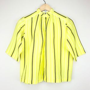 Apiece Apart Bright Striped Silk Linen Blouse (2)